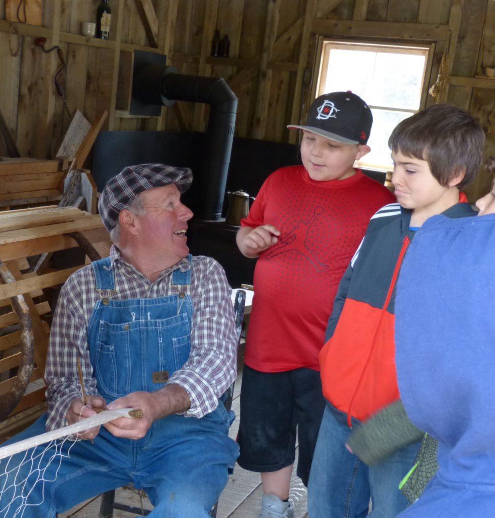 Anschauungsunterricht im Acadischen Dorf in West-Pubnico