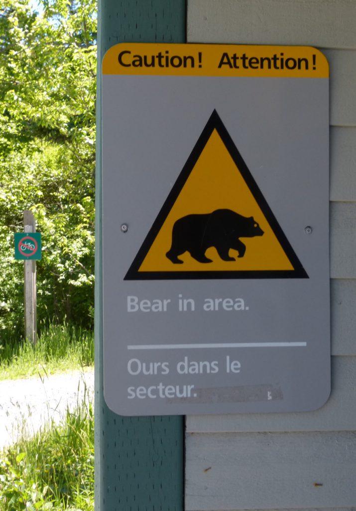 Warnung vor Begegnung mit Bären im Keijmkujik National Park South