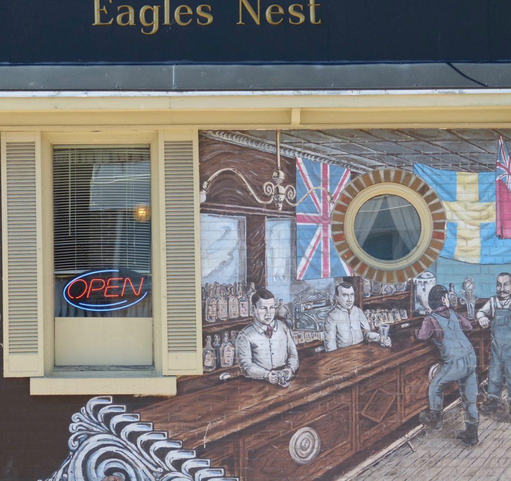 "Kenora_Mural.in der Bar ""Eagles Nest"""