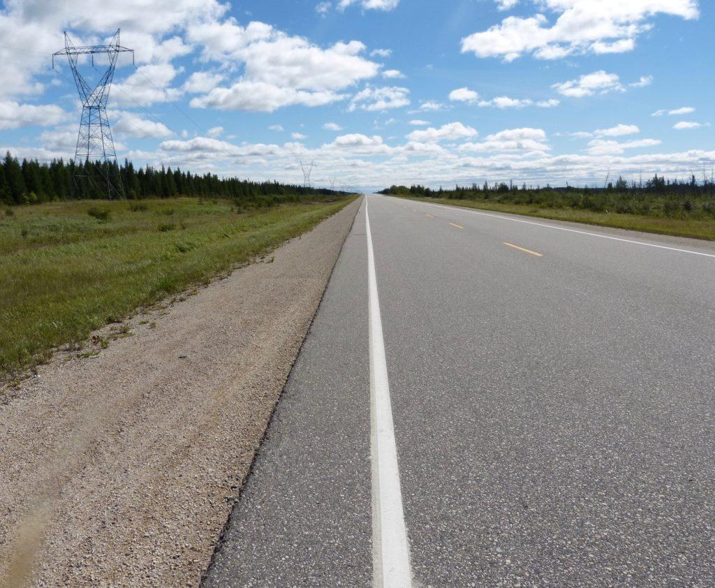 Manitoba_Highway 6 zwischen Winnipeg und Grand Rapids